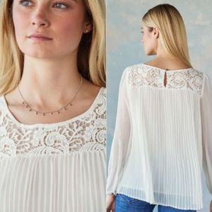 Sundance Catalog Guinevere Pleated Accordion Top S